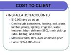 cost to client