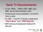 early tv documentaries