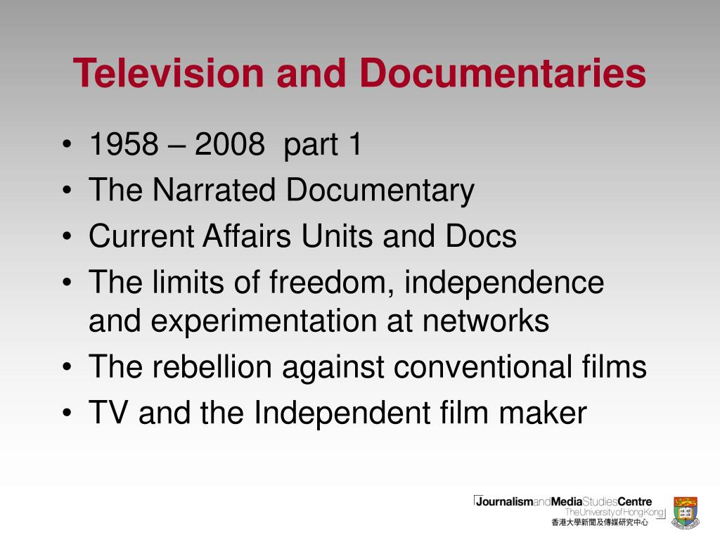 television and documentaries l.