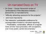 un narrated docs on tv
