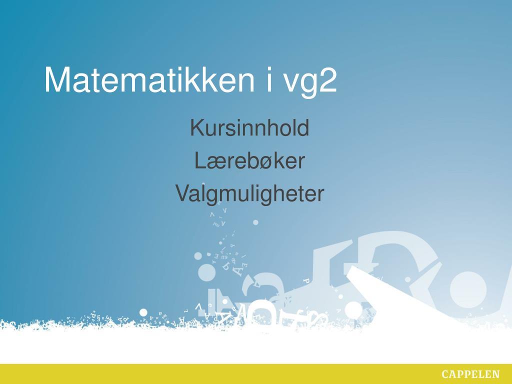 matematikken i vg2 l.