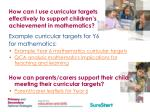 how can i use curricular targets effectively to support children s achievement in mathematics