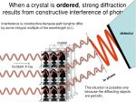 when a crystal is ordered strong diffraction results from constructive interference of photons