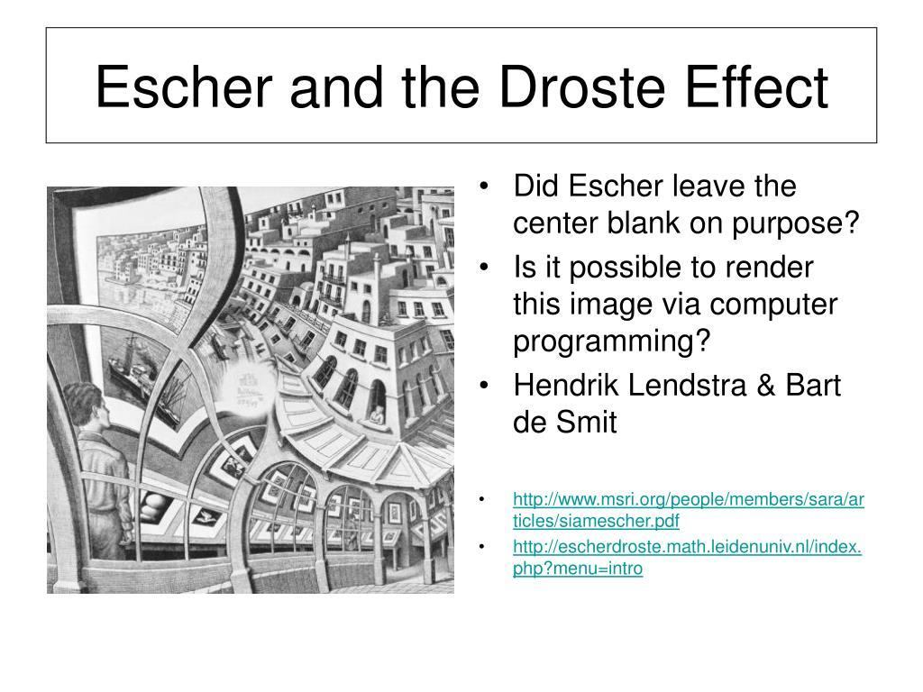 Escher and the Droste Effect
