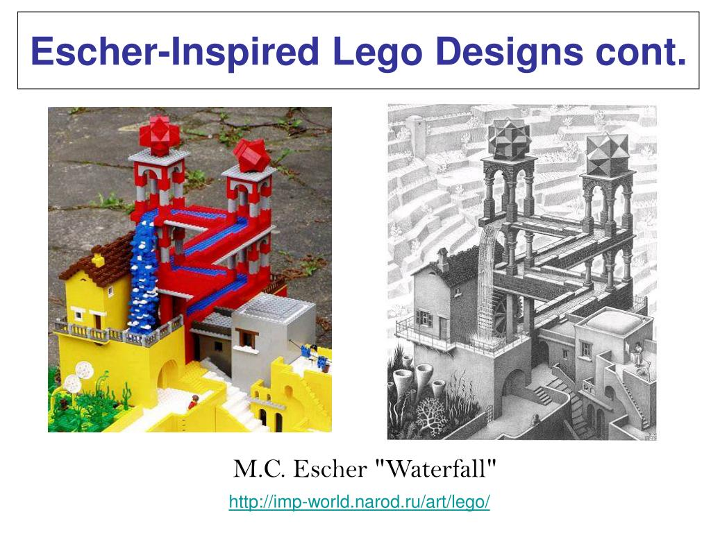 Escher-Inspired Lego Designs cont.