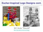 escher inspired lego designs cont