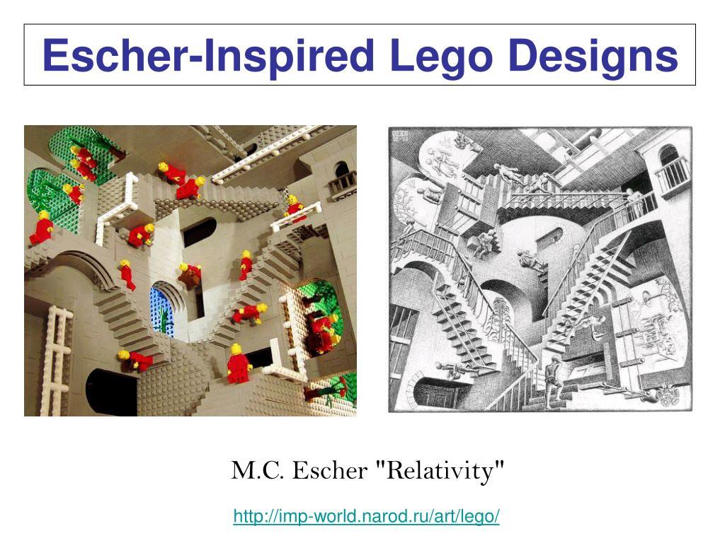 Escher-Inspired Lego Designs