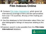 film indexes online