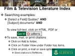 film television literature index