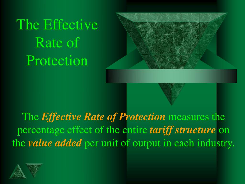 the effective rate of protection l.