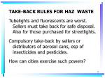 take back rules for haz waste
