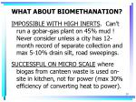 what about biomethanation