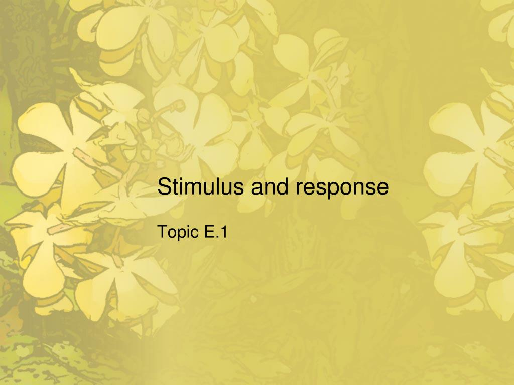 stimulus and response l.