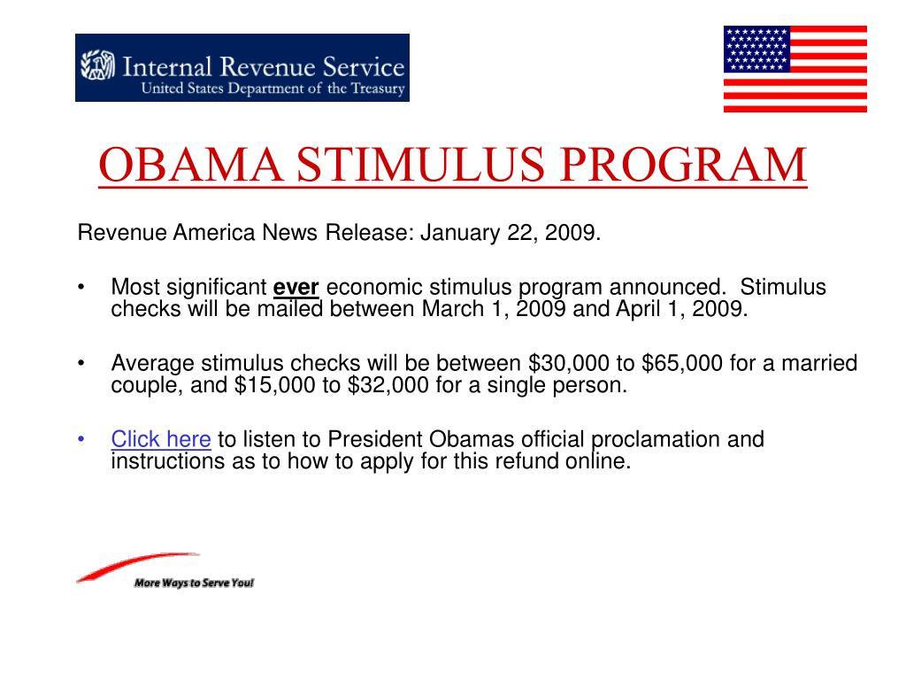 obama stimulus program l.