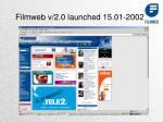 filmweb v 2 0 launched 15 01 2002
