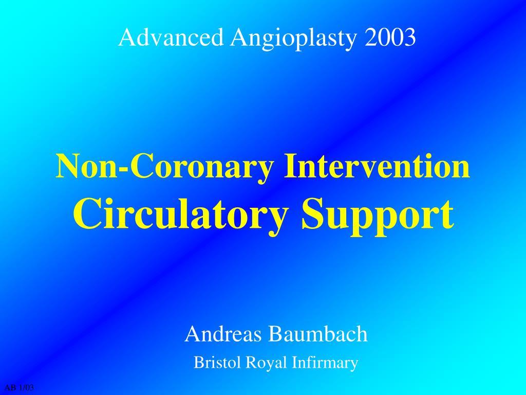 non coronary intervention circulatory support l.