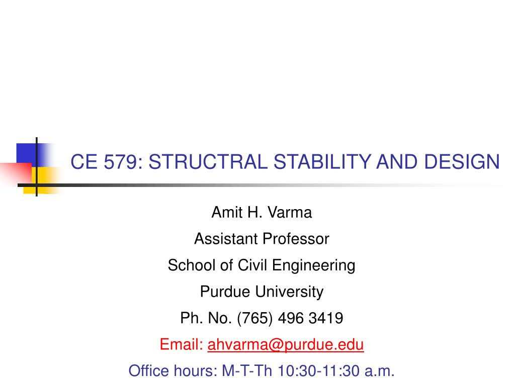 ce 579 structral stability and design l.