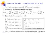 energy method large deflections9