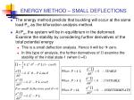 energy method small deflections5