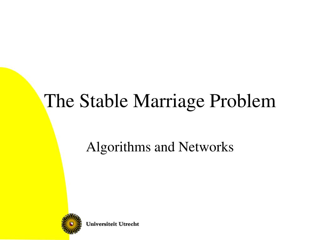 the stable marriage problem l.