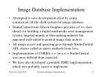 image database implementation