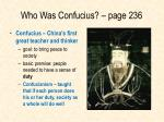 who was confucius page 236
