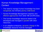 human knowledge management context