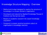 knowledge structure mapping overview