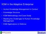 ksm in the adaptive enterprise