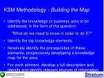 ksm methodology building the map