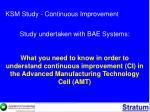 ksm study continuous improvement