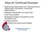 keys for continued success