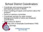 school district coordinators