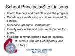 school principals site liaisons