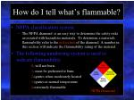 how do i tell what s flammable