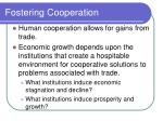 fostering cooperation