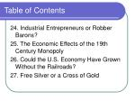 table of contents30