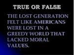 true or false97