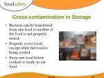 cross contamination in storage