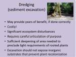 dredging sediment excavation