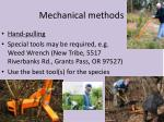 mechanical methods