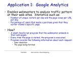 application 1 google analytics