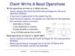 client write read operations