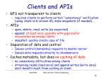 clients and apis