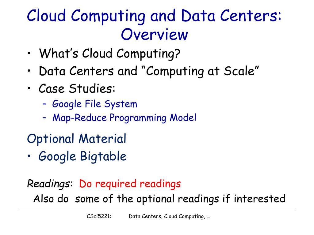 cloud computing and data centers overview l.