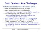data centers key challenges