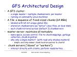 gfs architectural design