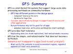 gfs summary