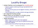 locality groups