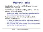 master s tasks